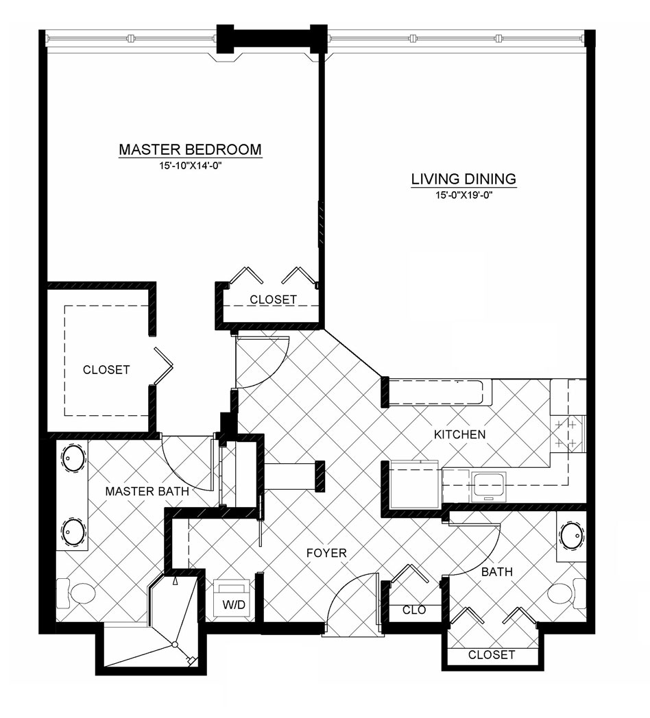 Our residences plymouth harbor for Backyard apartment floor plans